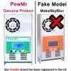 PowMr MPPT 60A 50A 40A 30A Контроллер заряда и разряда 12 В 24 в 36 в 48 в авто для макс PV 190VDC свинцово-кислотная литиевая батарея