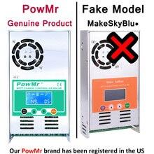Powmr mppt 60a 50a 40a 30a carga solar e controlador de descarga 12v 24v 36v 48vauto para a bateria de lítio acidificada ao chumbo max pv 190vdc