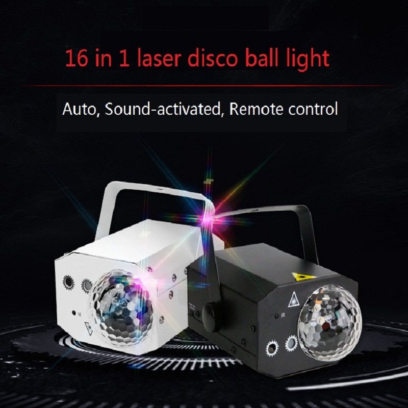 2in1 Portable Music remote control LED RGBW Lights RG Laser Stage Effect Lighting Club Disco DJ Party Bar KTV Wedding Christmas2in1 Portable Music remote control LED RGBW Lights RG Laser Stage Effect Lighting Club Disco DJ Party Bar KTV Wedding Christmas