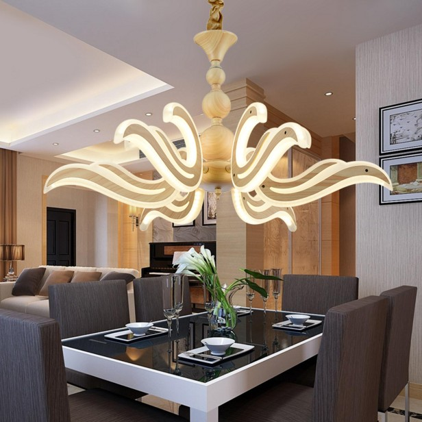 Modern Chandeliers LED Lamp Metal Acrylic Lighting Fixture For Living Room Restaurant Bar Bedroom