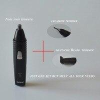 20 шт./партия многофункциональная перезаряжаемая машинка для стрижки бороды 3 в 1 Электрический триммер для носа Tondeuse