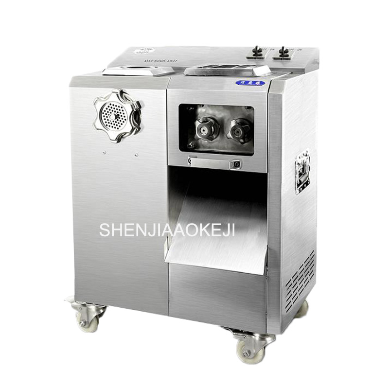Stainless steel electric meat grinder multifunctional meat cutting machine Shredded minced meat machine 220V 1PCStainless steel electric meat grinder multifunctional meat cutting machine Shredded minced meat machine 220V 1PC