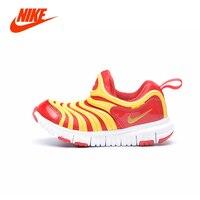 NIKE DYNAMO FREE Original Colorful Caterpillar Style Children Unisex Boy Girl Kids Shoe Light Breathable Slip