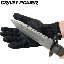 CRAZY POWER Proof Protect Stainless Steel Wire Safety Gloves Cut Metal Mesh Butcher Anti-cutting Breathable Work Gloves