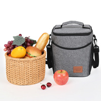 Wxfbbaby Round Lunch Box Waterproof Picnic Storage Portable Thermal Insulated Food Fresh Keep Cooler Lunch Bags