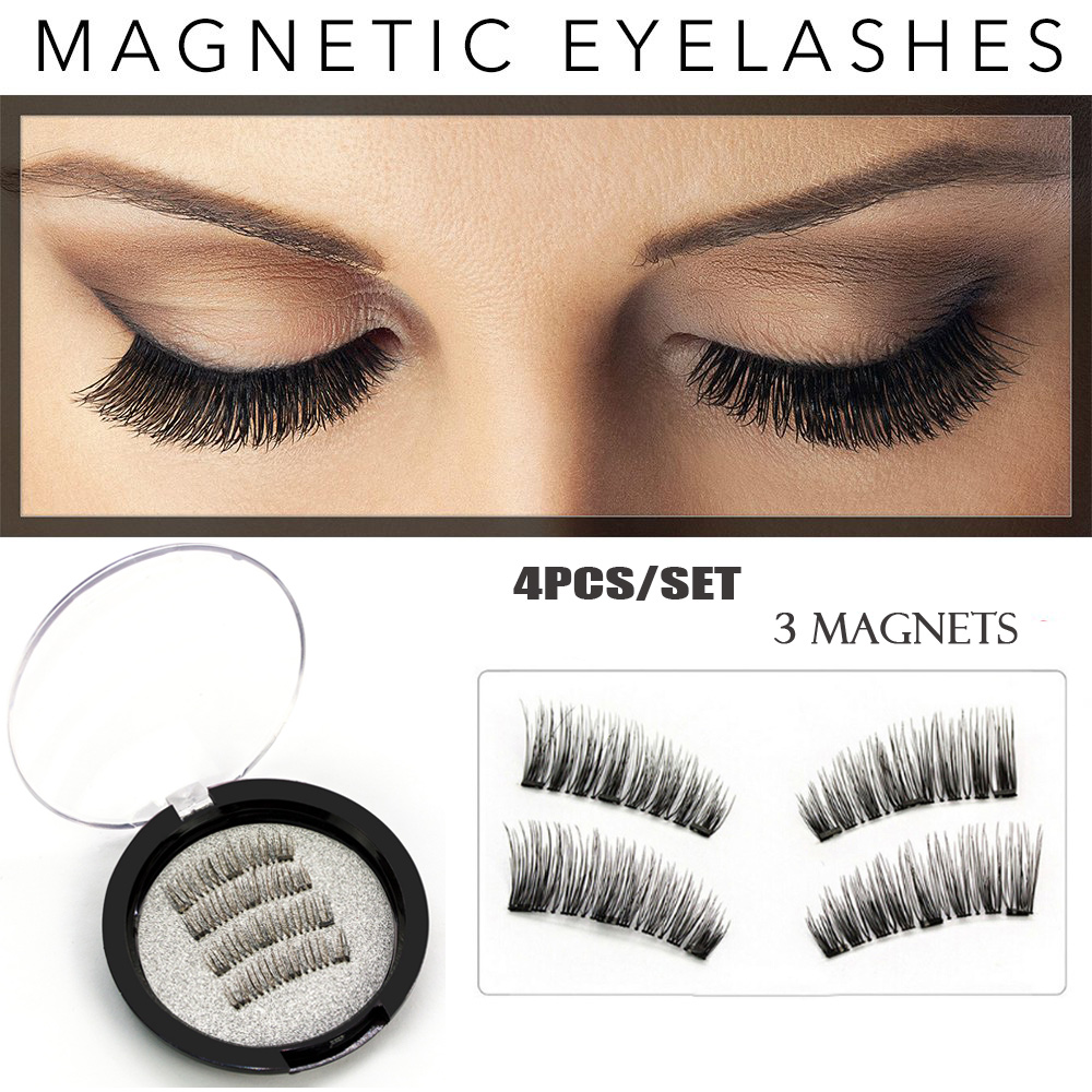 526e68110f9 Detail Feedback Questions about Magnetic Eyelashes 3 Magnet Glue free 3D  Reusable Full Size Premium Quality Natural Look Best False Lashes 4 Pieces  /Set on ...