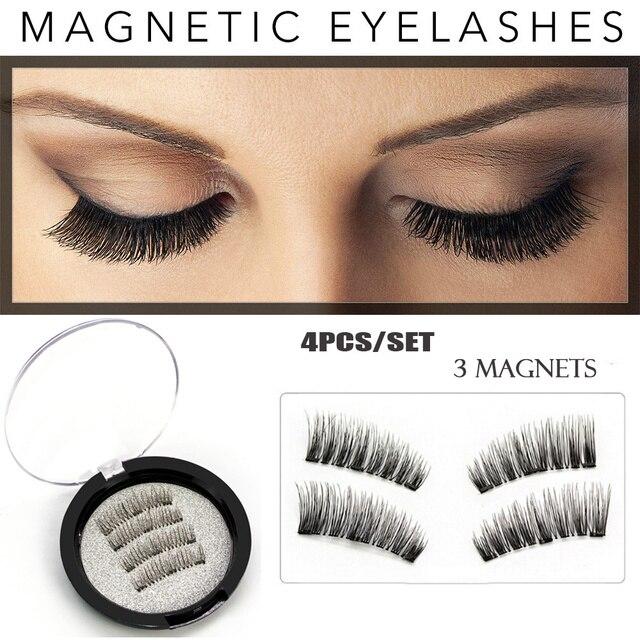 Magnetic Eyelashes 3 Magnet Glue Free 3d Reusable Full Size Premium