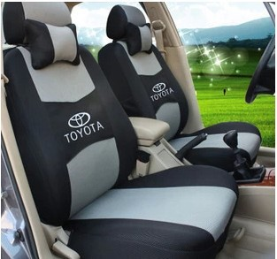 Seat Cover Set For TOYOTA Corolla Camry RAV4 Avensis Vitz Aruis Prius Yaris Car Accessories Back Protector With LOGO In Automobiles Covers