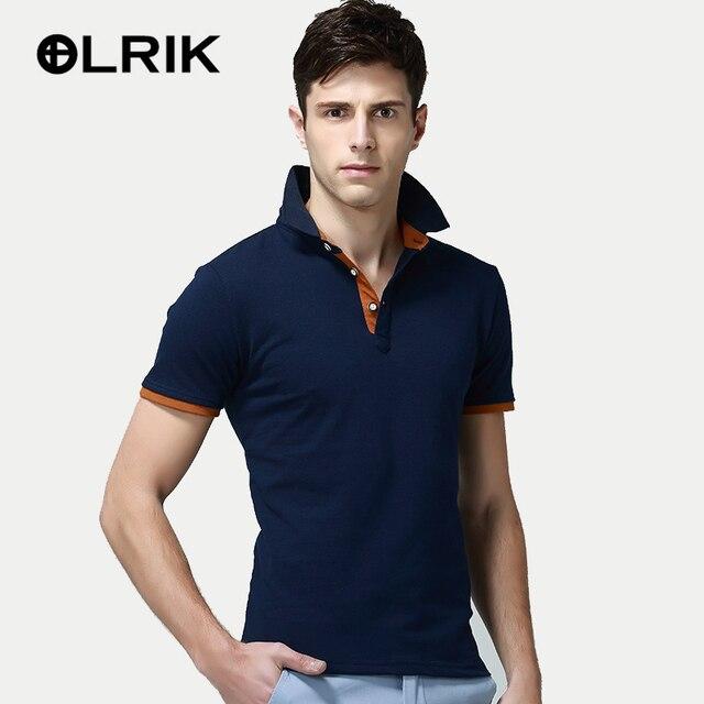 OLRIK 2017 Brand New Summer Men Polo Shirt Casual Cotton Short Sleeve Male Polo Dress Men Brand Clothing Polo Homme Shirts