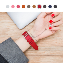 Applicable apple watch3 strap iwatch1/2 handmade leather Apple Watch men and women 38/42mm
