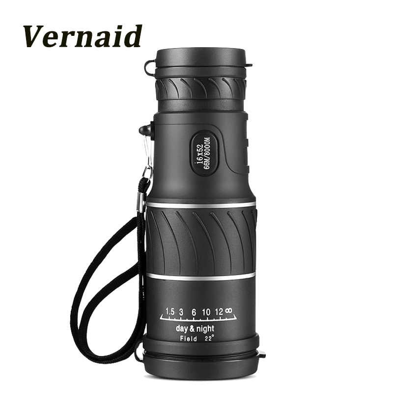 Охота монокуляр 16x52 фокус оптические линзы портативный HD день Ночное видение путешествия телескоп Зрительная труба бинокль карман