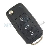Klapki Samochód Zdalnie Klucz 202AD dla VW Volkswagen Beetle Golf Eos Polo Sharan Tiguan 2011-2013 HU66 ID48 434 Mhz Remtekey 5K0837 202 AD