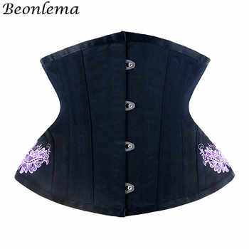 Beonlema Women Underbust Corset Steel Bone Steampunk Sexy Corsets Black Gothic Waist Slimming Female Red Corset S-2XL - DISCOUNT ITEM  41% OFF All Category