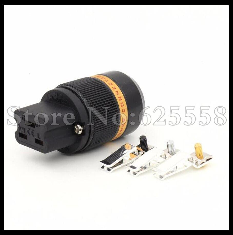 1pcs X Viborg Audio  pure Copper 3U Rhodium Plated AC 20A IEC Female Power Plug Connector