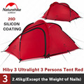 Naturehike Tent Hiby Serie Camping Tent 3-4 Personen Outdoor 20D Siliconen Stof Dubbele laag 4 Seizoen Ultralight Familie tent