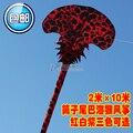 Nuevos de una sola línea devanadera 10 m Sea monkey culpa weifang yi fei rainbow nylon manga de viento cometas suaves grandes colas niños juguetes exterior