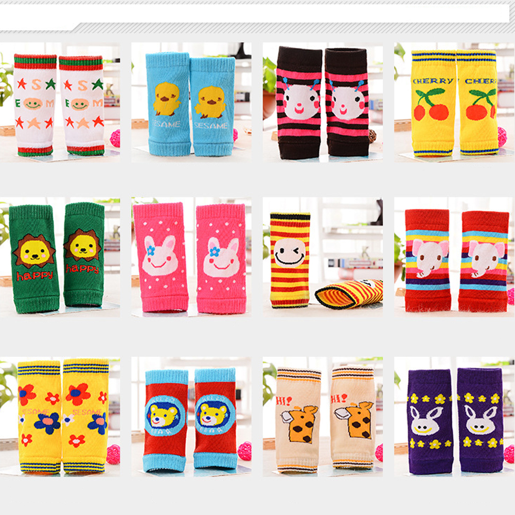 Baby Leg Warmers Cotton Knitted Kids Safety Crawling Elbow Cushion Infant Toddler Knee Pads Leg Warmers Boy Girl Kneepad Set