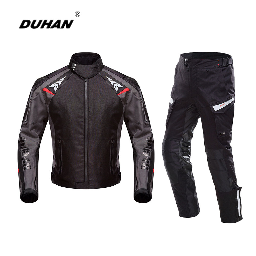 DUHAN Motorcycle Jacket Suit Moto Autumn Winter Waterproof Cold-proof Biker Jacket Men Motorbike Riding Clothing Protective Gear duhan motorcycle jacket motorcycle pants suit autumn winter cold proof waterproof touring chaqueta moto protective gear