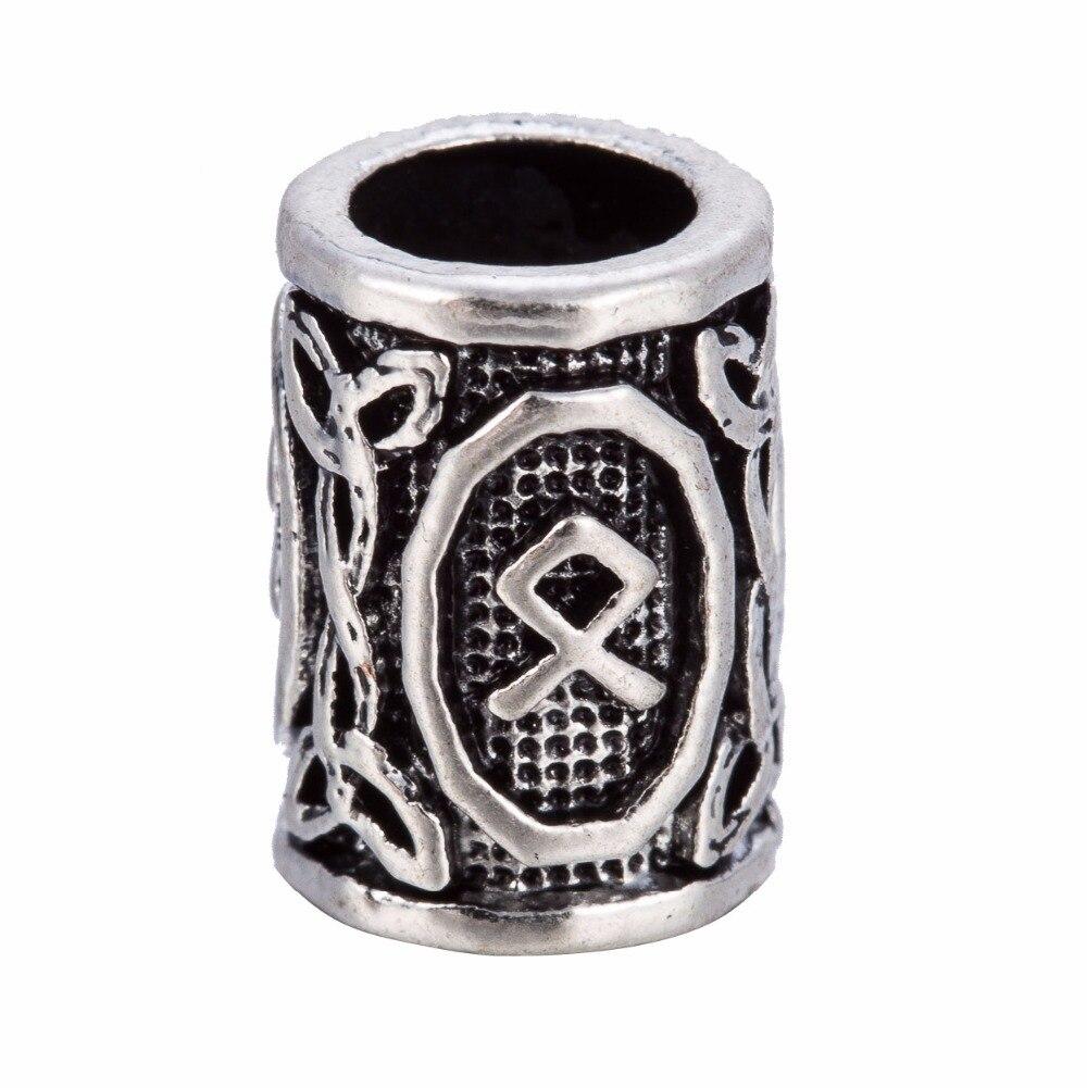 Viking Rune LAGUZ INGWAZ DAGAZ OTHALA Runes metal beads jewelry  Harley-Davidson Sportster