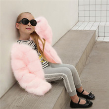 Winter Jackets Girls Fur Coat Gaueey Cute Baby Girl Jacket Thicken Warm Overcoat Children's Outerwear Trench Coats For Girls yb3184598585 2018 baby outerwear girls winter jackets girls jacket animal girl coat worm girl outerwear fashion