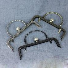 20.5cm metal çerçeve çantalar kız çanta ağız altın toka aksesuarları 3 adet/grup