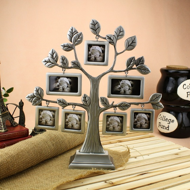 High Quality Family / Baby Tree Photo Frame Zinc Alloy Collage Frame ...