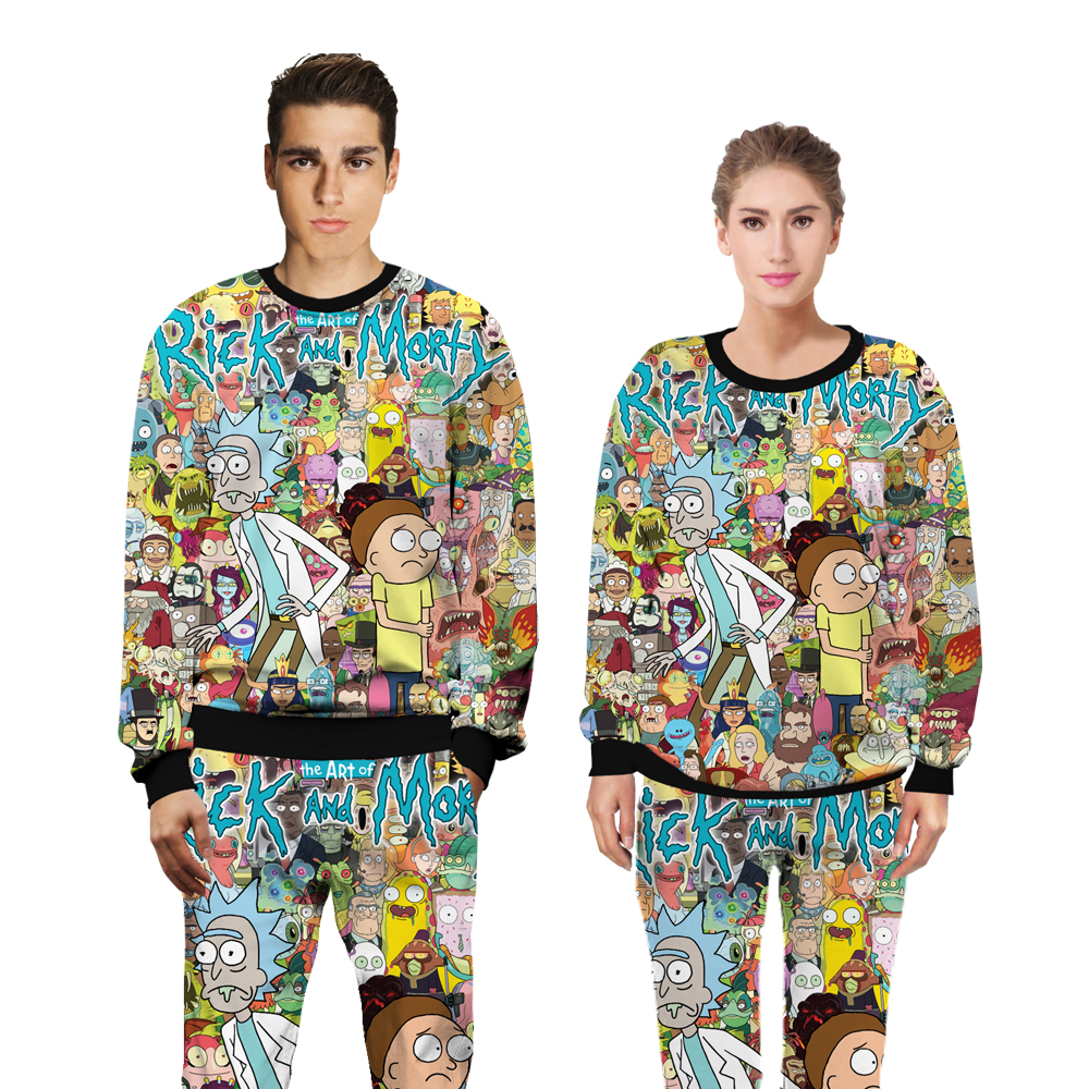 Rick and Morty Funny fashion sweats tracksuit men women winter casual clother 3d Sweatsh ...