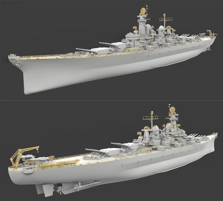 Veryfire VF700001 1/700 American Montana Battleship with Bottom Assembly Model trumpeter ships model 05316 german pocket battleship graf spey