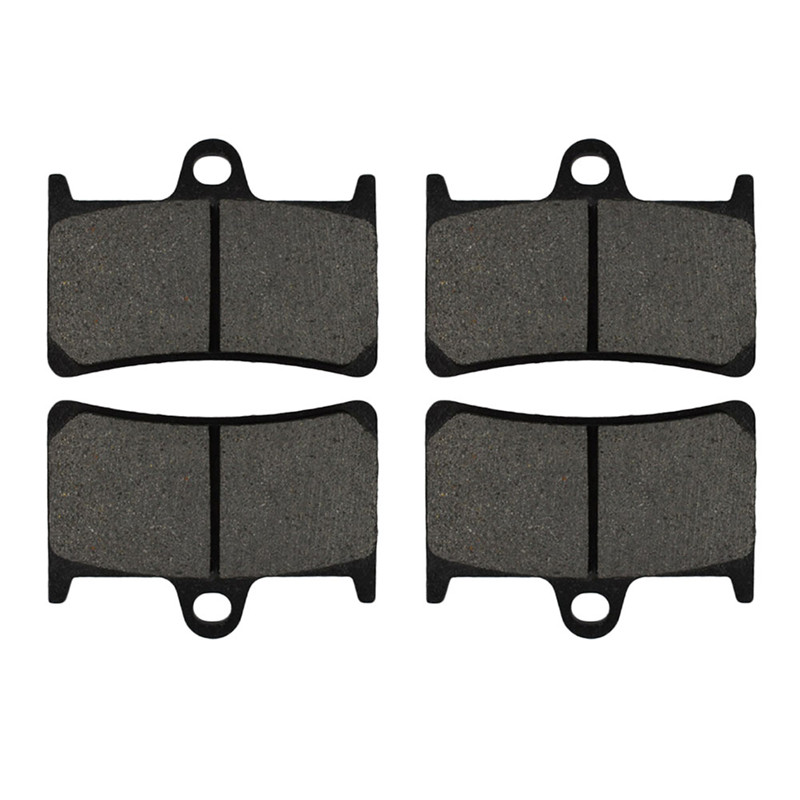 2 Pairs Motorcycle Brake Pads for YAMAHA  FZR 400 1991-1992 Black Brake Disc Pad motorcycle front and rear brake pads for yamaha fzr 400 fzr400 3en1 1988 brake disc pad