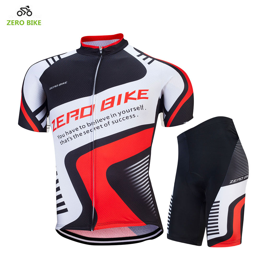 ZERO BIKE 2017 New Arrival Cycling Jersey Set Short Sleeve Bike Bicycle  Sportswear Ropa Ciclismo 4D 91447c318