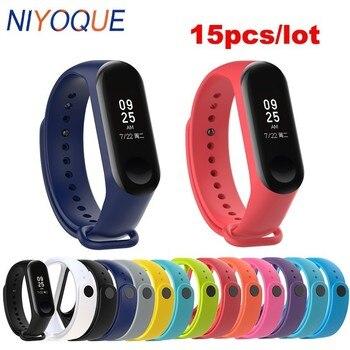 15pcs/lot Wholesale Strap for Mi Band 3 Smart Accessories Xiaomi band 5 4 3 Bracelet Wristband