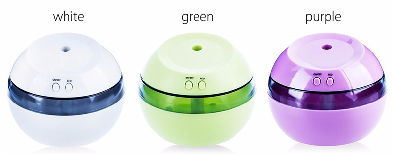 3 In 1 Ultrasonic Humidifier Mini USB Air Humidifier Aromatherapy Machine LED Light Aroma Diffuser For Home Office