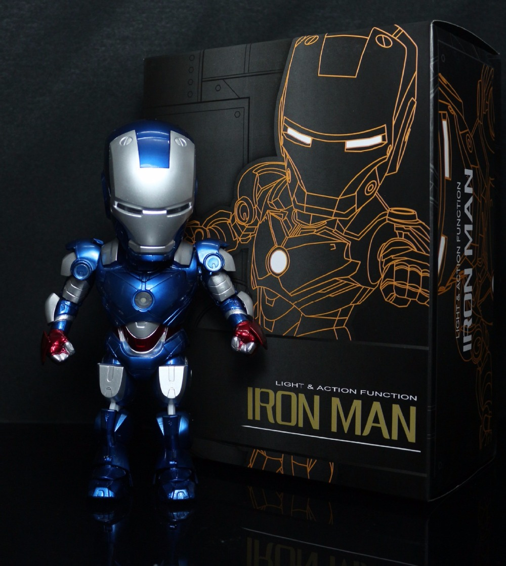 Huong Movie Figure 4 Styles Iron Man 2 Edition Sound Control Light & Action Function PVC Action Figure Collectible Model Toy new hot christmas gift 21inch 52cm bearbrick be rbrick fashion toy pvc action figure collectible model toy decoration