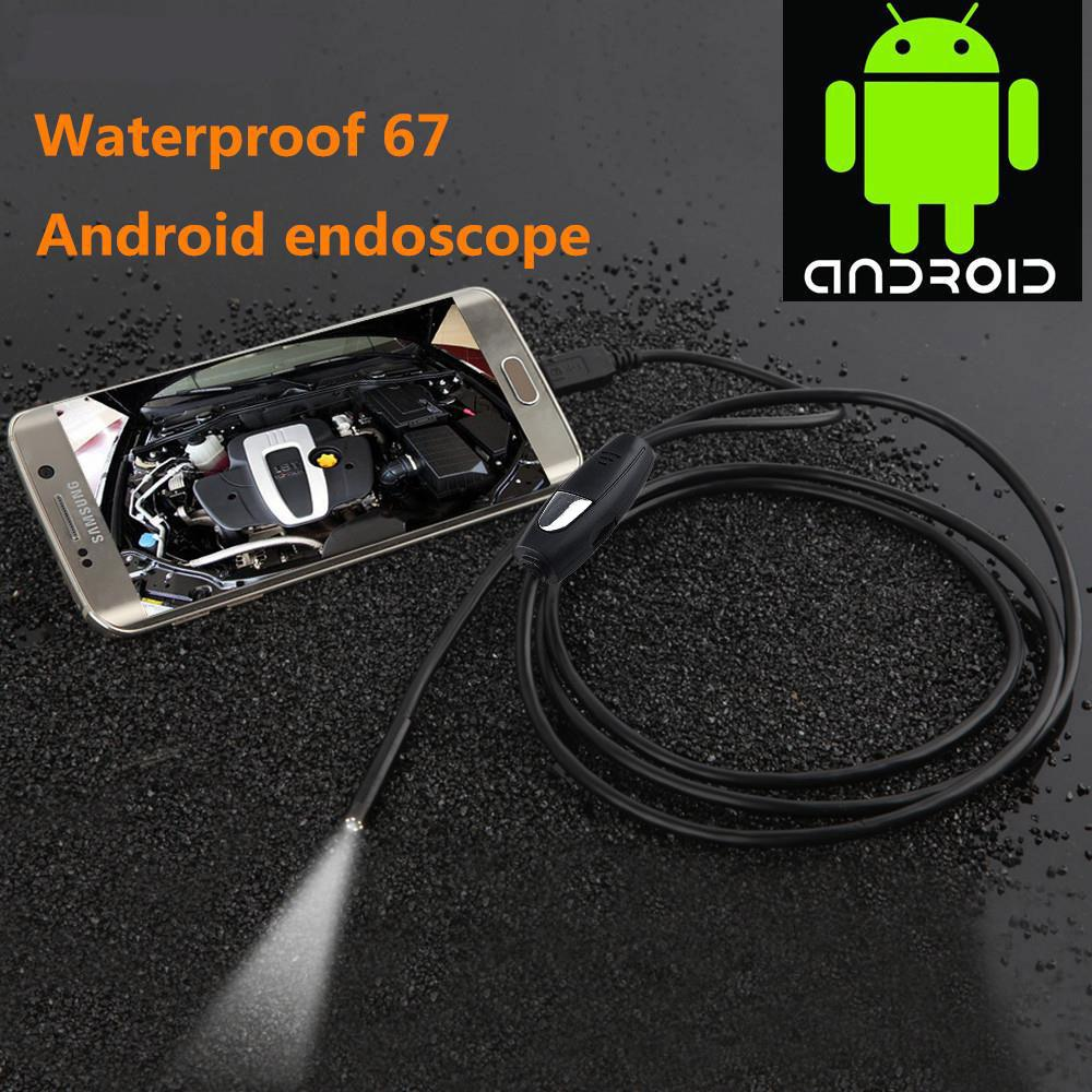 lensoul Waterproof Android Phone Endoscope Mini HD 7mm Lens Snake Tube Rigid USB LED Borescope Inspection for Android Phone PC