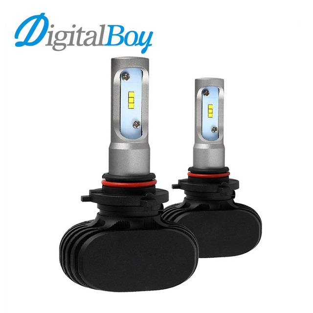 Digitalboy HB4 9006 LED Headlight Bulb Single Beam 50W CSP Chips Car Automobile Fog Lamps Light 6000k 8000lm