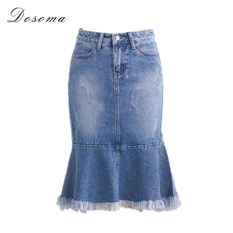 8ab692bb9 Sirena patchwork denim falda 2016 estilo coreano otoño falda de cintura  alta falda de midi side ripped apenada denim vintage jeans en Faldas de La  ropa de ...