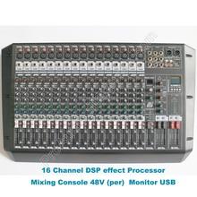 MICWL Professional 16 Channel Dual Group DJ Karaoke Mixing Console Audio Microphone Sound Cousole Desk Mixer 48V DSP 100-240V цена и фото