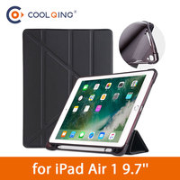 soft tpu Soft Multi-folded Tablets Case For iPad Air 1 9.7 With Pencil Slot TPU Soft Protective Cover Tablet Case For iPad Air Case 9.7