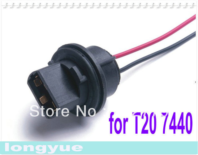 longyue 2pcs T20 7440 light socket Headlight Wiring Harness CONNECTOR ADAPTER BULB WIRE_640x640 aliexpress com buy longyue 2pcs t20 7440 light socket headlight Wiring Harness Diagram at soozxer.org