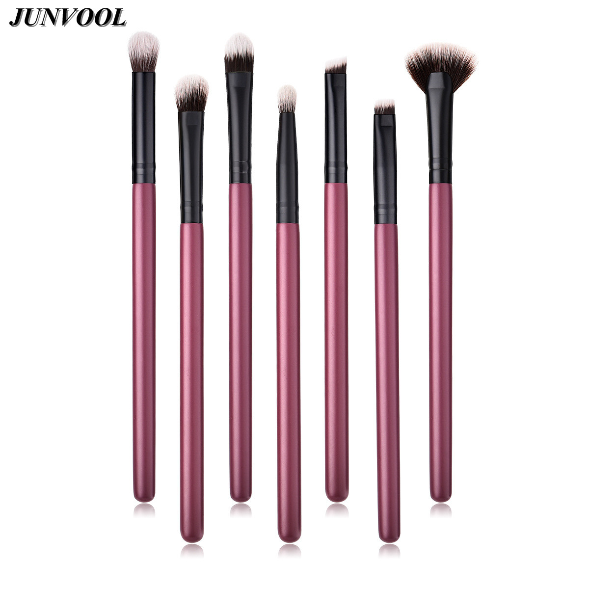 7pcs Nylon Hair Eye Makeup Brushes Set Professional Eye Shadow Eyebrow Lip Makeup Tool Shader Concealer Blending Mini Fan Brush 15 pcs nylon face eye lip makeup brush set page 3