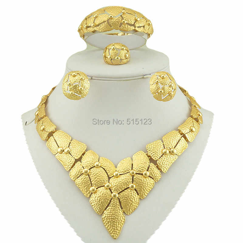 Afrikanischen kostüm schmuck-set braut schmuck set gold african big schmuck-sets beste qualität kostüm schmuck-set