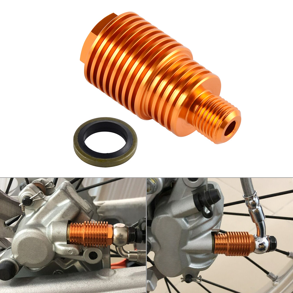 CNC Rear Brake Caliper Cooler Screw Bolt For KTM 125 250 300 350 400 450 500 525 530 SX XC SXF EXC XCF XCW EXCF XCFW 2004-2018 right left sides wp fork leg shoe guard protector cover for ktm 125 200 250 300 350 400 450 500 exc sx sxf xc xcf excf excw xcfw
