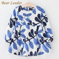 Bear Leader Girls Dress 2017 New Autumn Brand Baby Girls Long Sleeve Chinese Style Leaves Printing