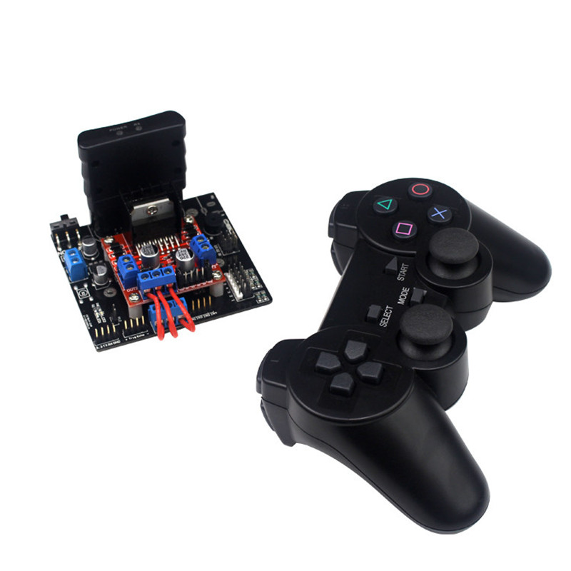 PS2 controller car robot / Tank robot control system control board + Motor drive module + Android APP + Bluetooth 4.0 6ch servo control board with l298n motor driver module ps2 wireless control handle for rc smart tracked robot car diy platform