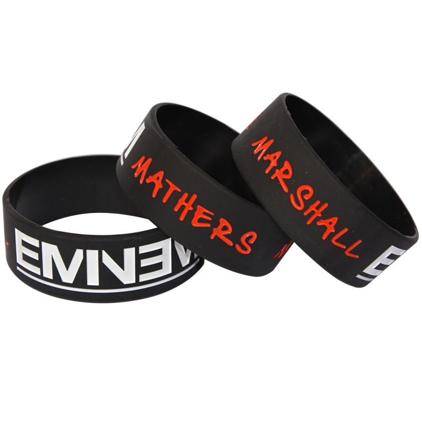Active 1piece Eminem The Marshall Mathers Ink Filled Logo Silicone Wristband Bracelet Online Shop