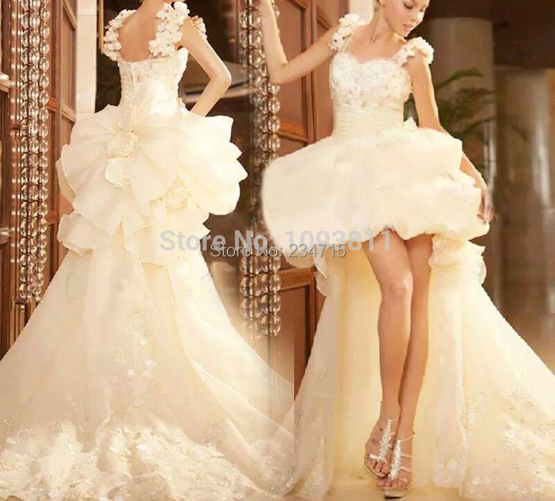 New Arrival Asymmetrical Wedding Dresses Sweetheart Ruffle