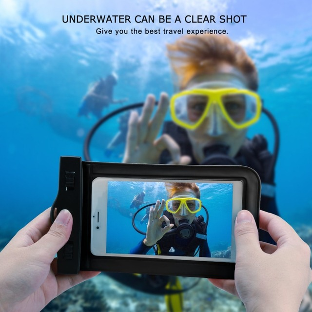 promo code b7354 6b65a US $3.37 5% OFF|For Huawei P9 Plus P8 Lite Y6/Lg G5 G4 G3 K8 K10/Meizu Case  Waterproof Phone Cover Underwater Swimming Diving Sealed Pouch Bag-in ...