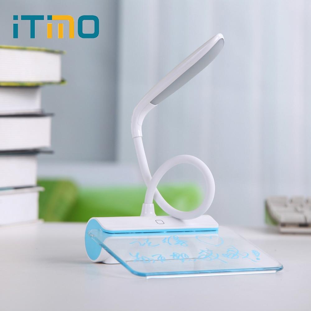 3 režīmu aptumšojoša USB atkārtoti lietojama skārienjutīgā slēdža galda lampas acu aizsardzība Ziņas gaismas LED galda lampas nakts gaismas lasīšanas gaisma