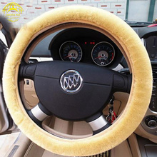 1 pc faux fur car steering wheel cover warm and anti-slip factory direct sale lowest price shipping free цена