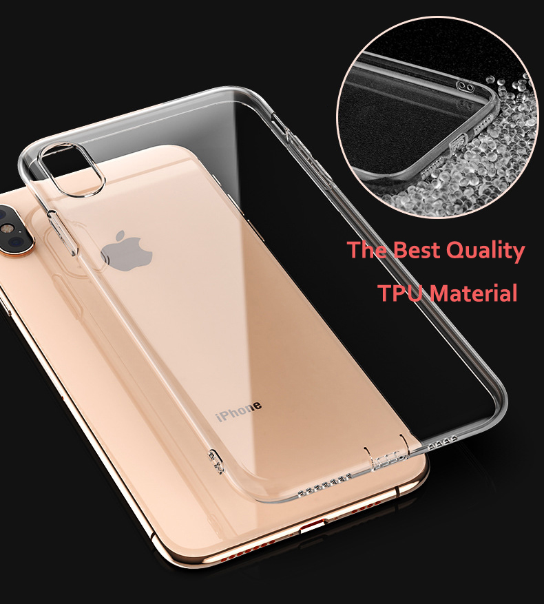 Luxury Clear Silicone Soft TPU Case For 7 8 6 6s Plus 7Plus 8Plus X XS MAX XR Transparent Phone Case For iPhone 5 5s SE 6sPlus in Fitted Cases from Cellphones Telecommunications
